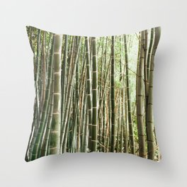 In The Bamboo Forest Throw Pillow