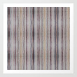 Pastel striped pattern Art Print