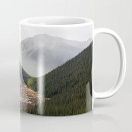 Clouds Rolling in Over Rocky Mountain Pass Coffee Mug