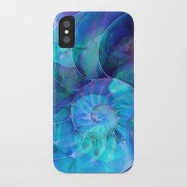 Blue Nautilus Shell  - Seashell Art By Sharon Cummings iPhone Case