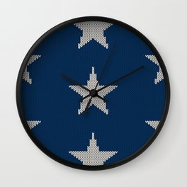 Knitted Stars Wall Clock