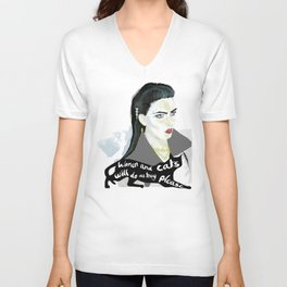 Women and cats will do as they please Unisex V-Neck