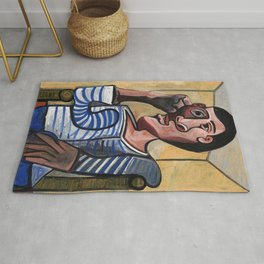 Pablo Picasso The Sailor 1943 Artwork for Wall Art, Prints, Posters, Tshirts, Men, Women, Kids Rug