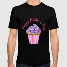 Happy Mother's Day Cupcake MEDIUM Mens Fitted Tee Black