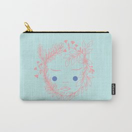 Floral face Carry-All Pouch