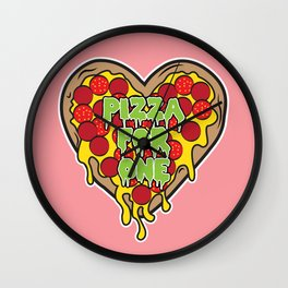 Pizza For One Wall Clock