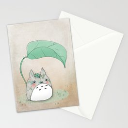 Floral Totoro Stationery Cards
