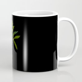 Ilex Angustifolia Mary Delany Vintage Floral Collage Botanical Flowers Black Background Coffee Mug