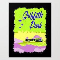 Griffith Park Art Print