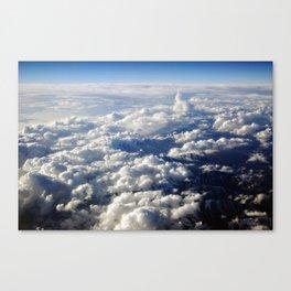 Cloud-Swept Mountain Range Canvas Print