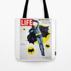 Adam West - Bat Man Life Magazine Cover Tote Bag