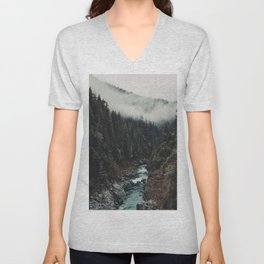 When the sky touch the wild Unisex V-Neck