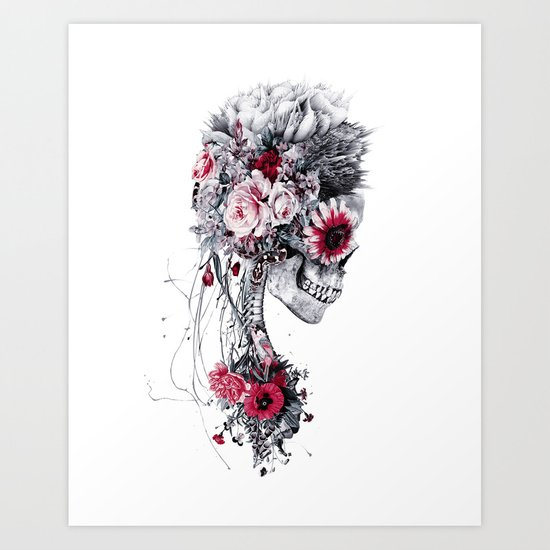 Skeleton Bride Art Print
