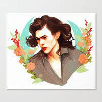 harry styles Canvas Prints featuring Harry Styles by chazstity