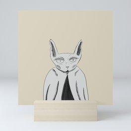 Grim cat Mini Art Print