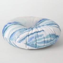 Gliding in shallow water Floor Pillow