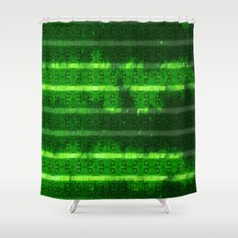Metal Watermelon Rind Shower Curtain