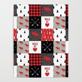 Wild At Heart Lumberjack Quilt Pattern Poster