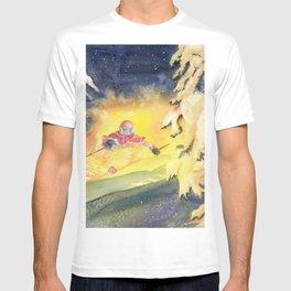 Skiing Art T-shirt