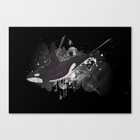 orca Canvas Prints featuring Orca by Stephane Le Blan
