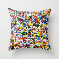 sprinkles Throw Pillows featuring Sprinkles by Electric Avenue