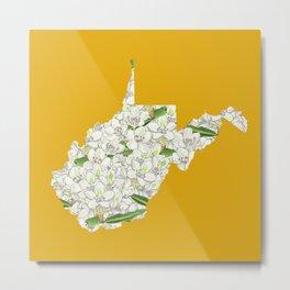 West Virginia in Flowers Metal Print
