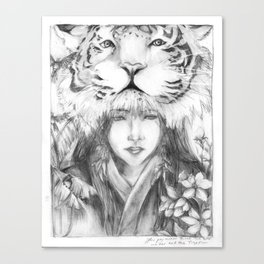 Yer, the tiger Canvas Print