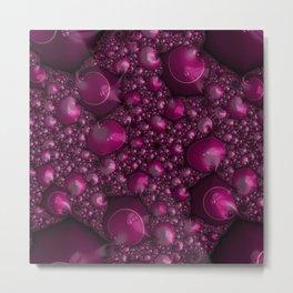 Raspberry Lather Metal Print