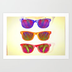 Sunglasses In Paradise Art Print