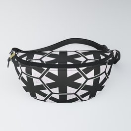 Multi Pattern Black and White Design Fanny Pack