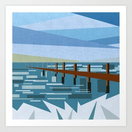 LOOKING AT THE SEA (abstract) Art Print