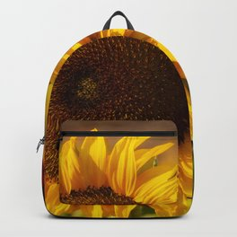 Sunflower Friends at Dusk by Reay of Light Backpack