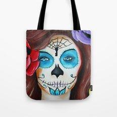 Dia De Los Muertos, Sugar skull girl Tote Bag