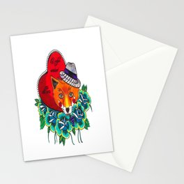 Fox and fruit Stationery Cards