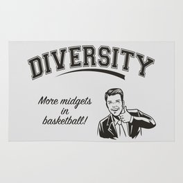 Diversity - Midgets in Basketball Rug