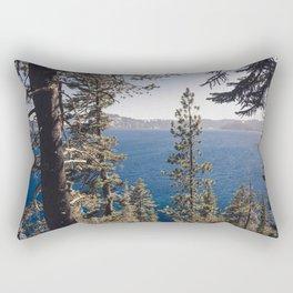 Hidden Lake Love - Nature Photography Rectangular Pillow