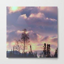 Rose Serenity Sky Metal Print