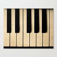 piano Canvas Prints featuring Piano by Sweet Moments Captured