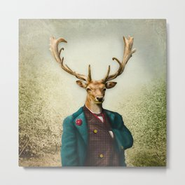 Lord Staghorne in the wood Metal Print