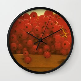 red currants Wall Clock