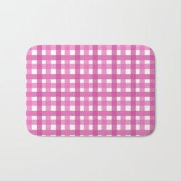 Pink Picnic Cloth Pattern Bath Mat