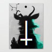 cross Canvas Prints featuring cross by s a Lieske