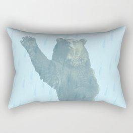 Dancing bears in the shower Rectangular Pillow