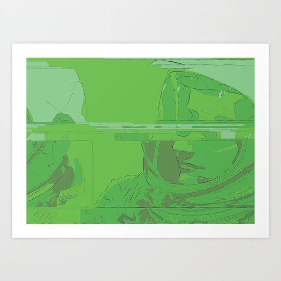 Green Armstrong Art Print