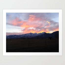 #406good eve in the southwest 406  Art Print