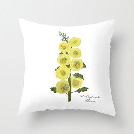 Hollyhock: Alcea Throw Pillow