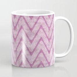 Soft Dusty Mauve Imitation Suede Zigzag Coffee Mug