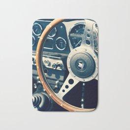 Old Triumph Wheel / Classic Cars Photography Bath Mat