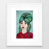 cassandra jean Framed Art Prints featuring Jean by Hanna Tingström