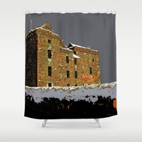 scotland Shower Curtains featuring Scotland Winter by dacarrie